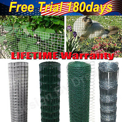 PVC Coated Galvanised Chicken Wire Mesh Aviary Rabbit Pet Fence 25m 30m 50m Hot! • 29.70£