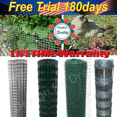 Welded Galvanised PVC Plastic Coated Fencing Chicken Wire Mesh Aviary Garden A+ • 29.70£