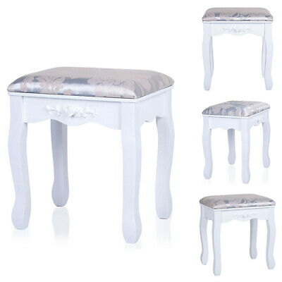 Dressing Table Stool Makeup Bench Soft Cushioned Chair Piano Seat Bedroom White • 23.99£