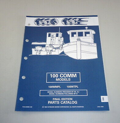 AU31.05 • Buy Parts Catalog Omc Evinrude Johnson Outboard Motor 100 Comm Models Stand 05/1992