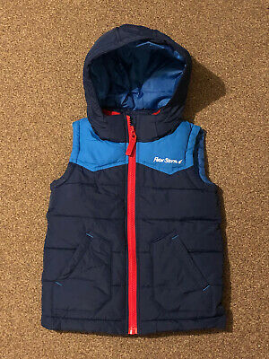 Peter Storm Navy Blue Puffer Jacket / Body Warmer With Hood; 5-6 Years; VGC • 6£