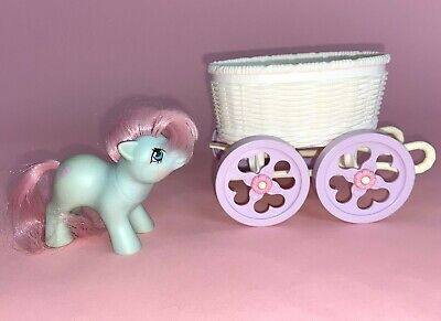 My Little Pony G1 Baby Cuddles Pony & Buggy Carriage Vintage 1985 Hasbro 80s Toy • 9.65£