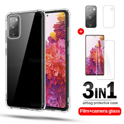 £1.35 • Buy For Samsung Galaxy S20 FE 5G TEMPERED GLASS Screen Protector+Case+Camera Lens A+