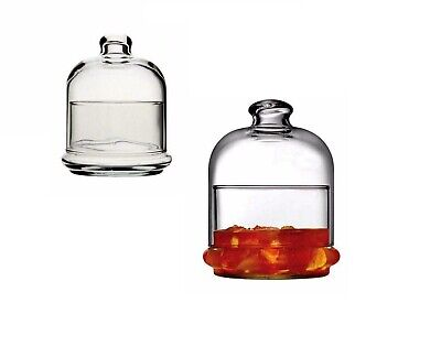 £4.49 • Buy Mini Glass Cake Dome Candy Dish Dessert Dish With Bell Top Lid New