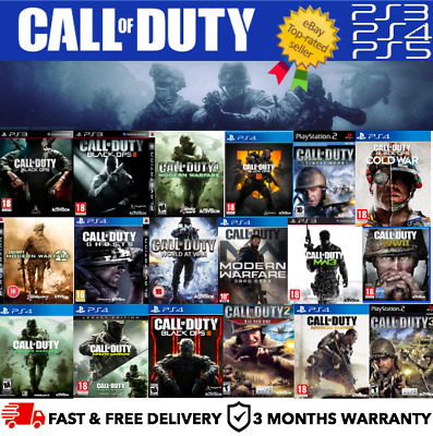 £13.97 • Buy CALL OF DUTY SERIES - Playstation PS2, PS3, PS4 - FAST FREE DELIVERY - BUNDLE UP