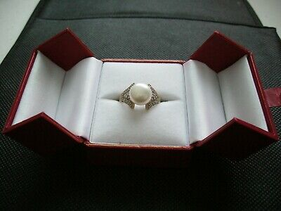 $400 • Buy Mabe Pearl And Diamond Ring-14 K-size 7