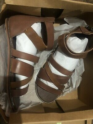 Mens Asos Gladiator Style Sandals Size 8 Tan Colour New With Box • 30£