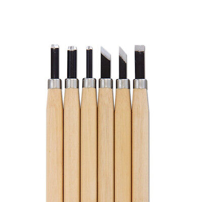 £3.70 • Buy 6 Pcs Wood Chisels Carving Knife Kit Woodworking Whittling Cutter Chip Hand Tool
