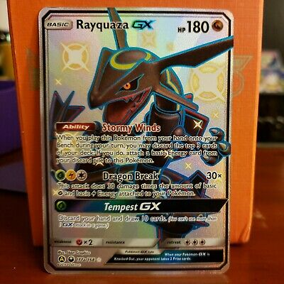 $ CDN101.28 • Buy SHINY FULL ART Rayquaza GX 177a/168 ULTRA RARE Alternate Hidden Fates Pokemon LP