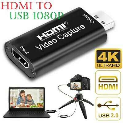 Video Capture Card HDMI To USB HD 1080P Recorder For Game/Live Streaming Tiktok • 8.75£