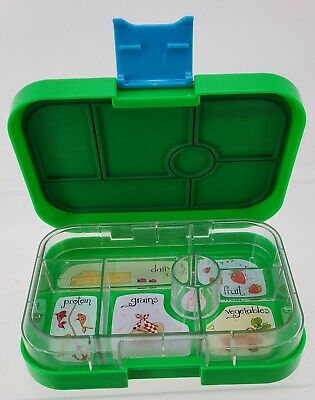 AU13.04 • Buy YUMBOX Green And Blue Eat Well Lunch Boxes 6 Compartments Removable Insert
