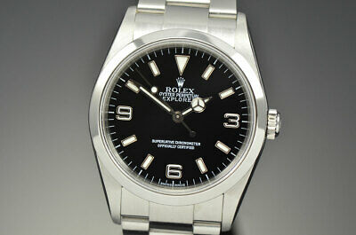 $ CDN8311.17 • Buy Mens Rolex Explorer I Stainless Steel Automatic Black Dial Watch Y Serial 114270