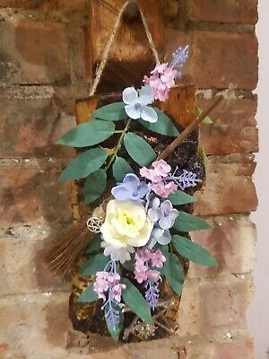 £15 • Buy Wiccan Pagan.wall Hanging .wooden .Bessom Spring Equinox .Handfasting Gift