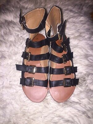 Ladies Gladiator Sandals Size 7 New • 20£