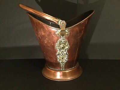 Large Copper And Brass Helmet Coal Scuttle • 95£
