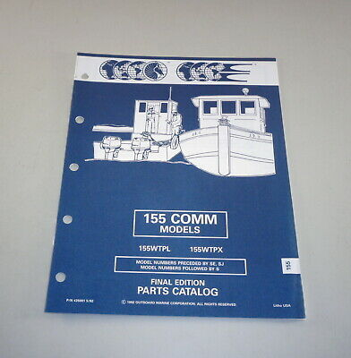 AU31.05 • Buy Parts Catalog Omc Evinrude Johnson Outboard Motor 155 Comm Models Stand 05/1992