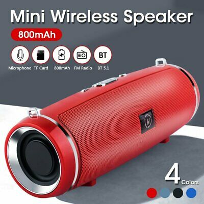 AU19.99 • Buy Portable Wireless Bluetooth 5.1 Stereo Music Waterproof Speaker For IOS Android