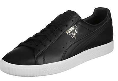 Puma Clyde Natural Black Trainers Size Uk 7 Us 8 *refcrs137 • 34.99£