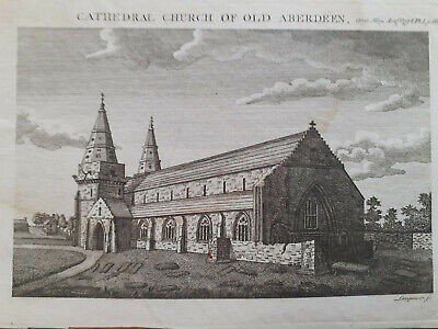 £13 • Buy Print Engraving 1794 Cathedral Church Of Old Aberdeen Gentlemans Magazine