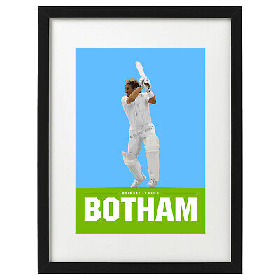 Ian Botham Cricket Art Print - Poster • 12.99£