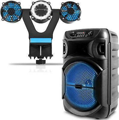 $69.99 • Buy Portable 8 Inch 1000 Watts Bluetooth Speaker With A Barbecue Grill Light And Fan