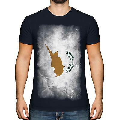 £18 • Buy Cyprus Faded Flag Mens T-shirt Tee Top Kypros Football Cypriot Gift Shirt