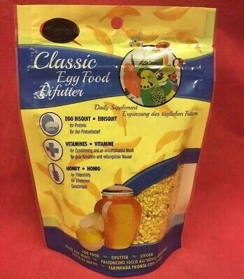 £4.99 • Buy Classic Egg Honey Rearing Food Budgie Canary Finch Parakeet Vitamins Protein
