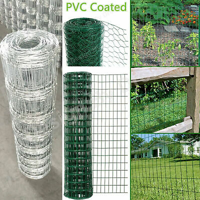 Chicken Wire PVC Coated / Galvanised 25 & 50mm Hole Size |10mm 25mm 50mm Lengths • 37.18£