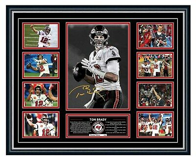 AU99.99 • Buy Tom Brady Tampa Bay Buccaneers 2021 Super Bowl Lv 55 Signed Framed Memorabilia
