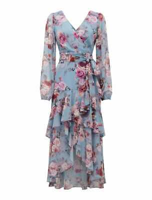 AU79.99 • Buy FOREVER NEW FLORAL FLEUR LONG SLEEVE WRAP MAXI DRESS BN SZ 6 Wedding Cocktail