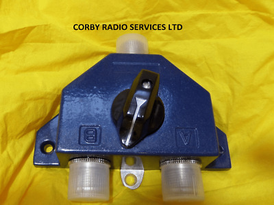 £19.50 • Buy COAX ANTENNA SWITCH FOR CB TAXI & HAM RADIO 2 POSITION  600 MHz Pwr 1KW SO239