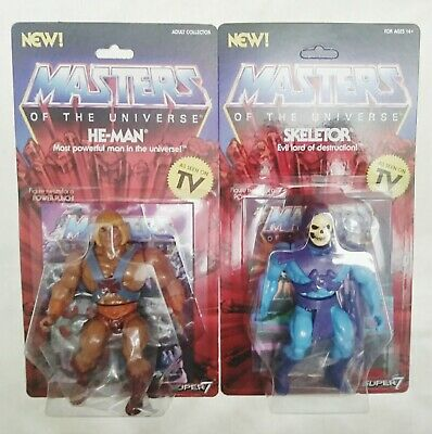 $69.95 • Buy Super 7 Masters Of The Universe He-Man And Skeletor As Seen On T.V.Carded Lot