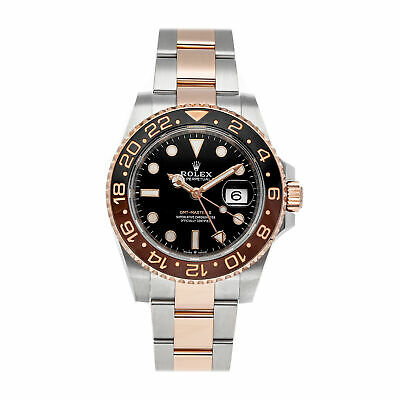 $ CDN24052.54 • Buy Rolex GMT-Master II Rootbeer Auto Steel Gold Mens Bracelet Watch 126711CHNR