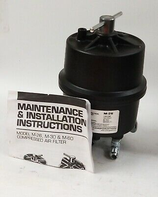 $85 • Buy Motor Guard Submicronic Compressed Air Filter M-26 125 Psi Max