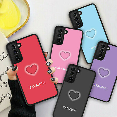 £5.98 • Buy PERSONALISED NAME LOVE HEART Phone Hard Case Cover For Samsung S21 Plus Ultra