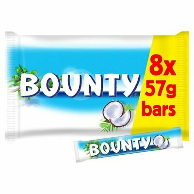 Bounty Twin Pack 8 Pack 456G | Tender Coconut Covered In Thick Milk Chocolate. • 6.65£
