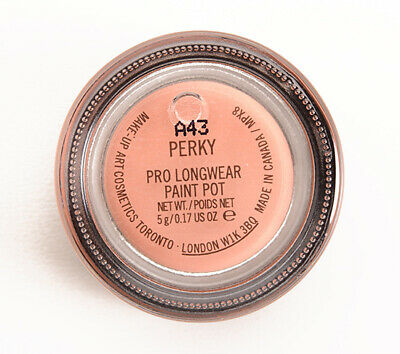 MAC-Paint Pot~PERKY~Peach Pearl-Eyeshadow Primer~Discontinued- RARE GLOBAL SHIP! • 42.88£