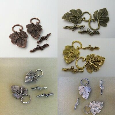 £3 • Buy Jewellery Making Toggle Clasps 'Vine Leaf' Design Colour & Quantity Variations
