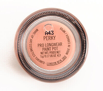 MAC-Paint Pot~PERKY~Peach Pearl-Eyeshadow Primer~Discontinued- RARE GLOBAL SHIP • 43.06£