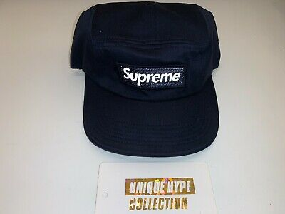 $ CDN107.47 • Buy Supreme 2015 F/w Reflective 3m Box Logo Camp Cap Hat 5 Panel Used Navy Pre-owned