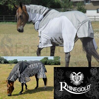 £47.90 • Buy Rhinegold WATERPROOF TURNOUT Fly Rug   Zambia Full Combo Neck 4ft6 -7ft3