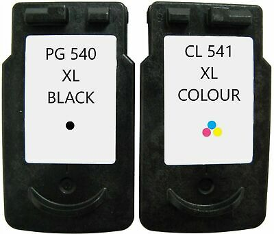 Refilled Ink For Canon PG-540XL Black + CL-541XL Colour Cartridges 540 541 • 22.99£