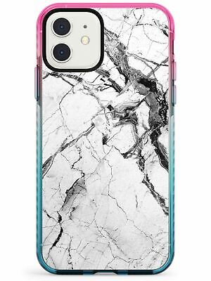 £12.95 • Buy Black & White Stormy Marble Pink Impact Case For IPhone Unique Stone Feminine