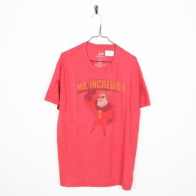 Vintage DISNEY The Incredibles Big Logo T Shirt Tee Red | XL • 4.75£