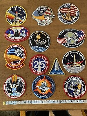 NASA Space Shuttle Patches, 13 In Total • 30£
