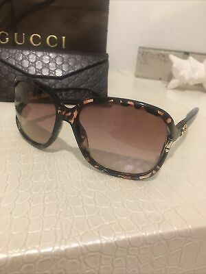 Gucci Tortoiseshell Over Sized Ladies Sunglasses With Case, Only Worn Once • 130£