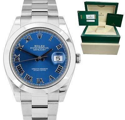 $ CDN10149.64 • Buy 2019 MINT Rolex DateJust 41 Azzurro Blue Stainless Smooth Oyster Watch 126300