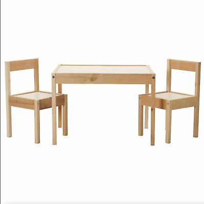 Ikea LATT Children's Table With 2 Chairs Wooden Pine Wood Kids Furniture Set New • 36£