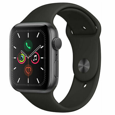 $ CDN394.99 • Buy Apple Watch Series 5 44mm Gray Aluminium Case With Black Sport Band - GPS Only