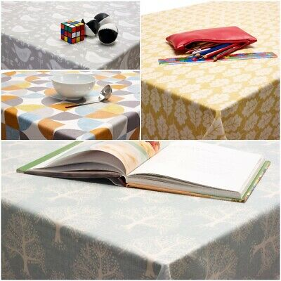 Wipe Clean Tablecloth Oilcloth PVC Vinyl Wipeable Scandinavian Oilcloth By Meter • 1.10£